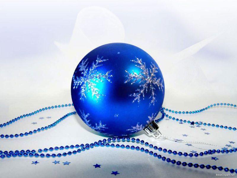 Blue Christmas Decoration Background