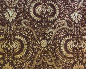 Brown Modern Batik Background