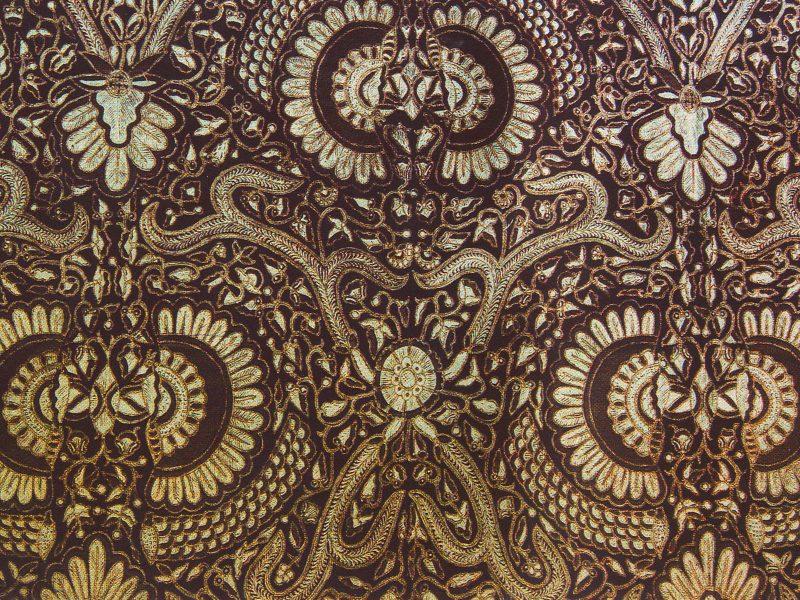 Brown Modern Batik Background
