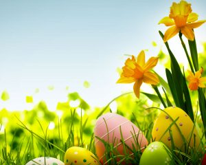 HDR Colorful Easter Egg Background