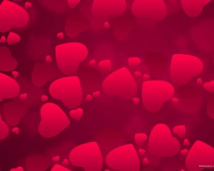 Red Heart Valentine PowerPoint Background